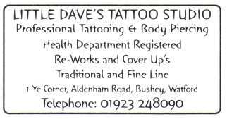 Little Daves' Tattoo Studio - professional tattooing and body piercing