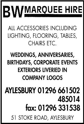 marquee hire - all accessories including lighting, tables, flooring, chairs, etc