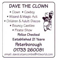 clown - cowboy wizard and magic art - children and adult discos - bouncy castles - pirate show